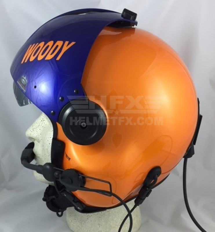 Woody custom painted flight helmet