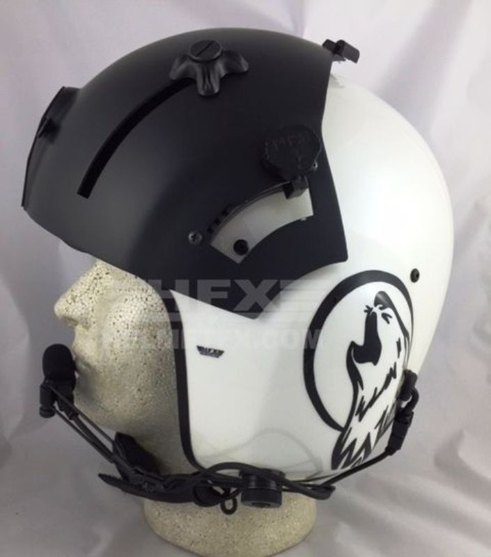 XPH custom painted flight helmet