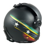 St Kitts custom painted flight helmet
