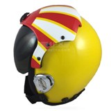 Sundowner custom painted flight helmet