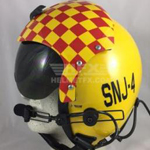 SNJ custom painted flight helmet 2