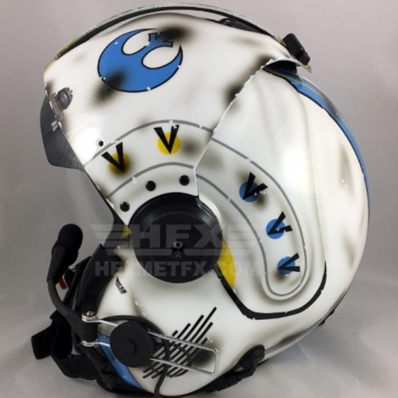Star Wars custom painted flight helmet 3