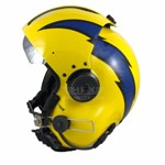 AirTractor lightening bolts flight helmet