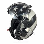Subdued flag painted flight helmet