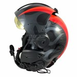Ghost flames painted flight helmet