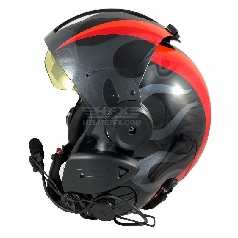 EVO custom painted flight helmet