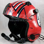 HPH Goose custom painted flight helmet