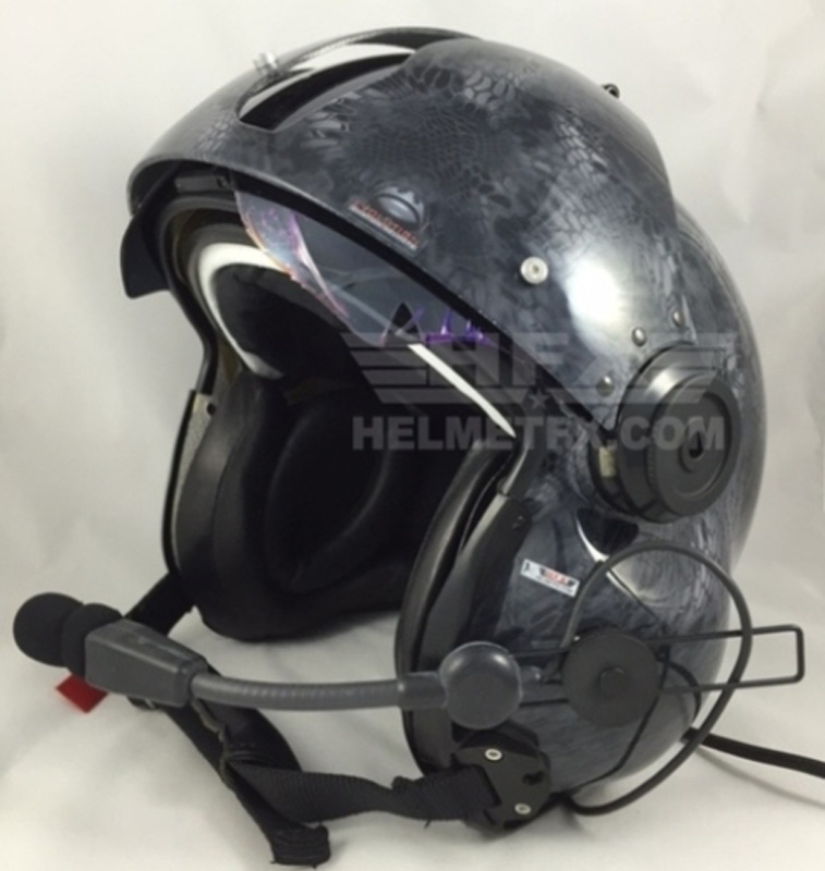 Kryptec custom painted flight helmet