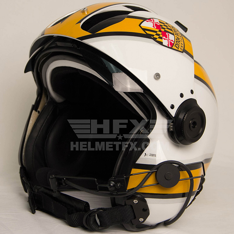 Maryland State Police custom painted flight helmet