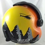 Mountains custom painted flight helmet 2