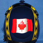 Canadian Flag custom painted flight helmet