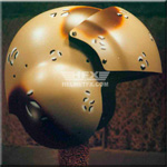 Desert camo custom painted flight helmet