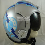 Iceman Goose custom painted flight helmet 1