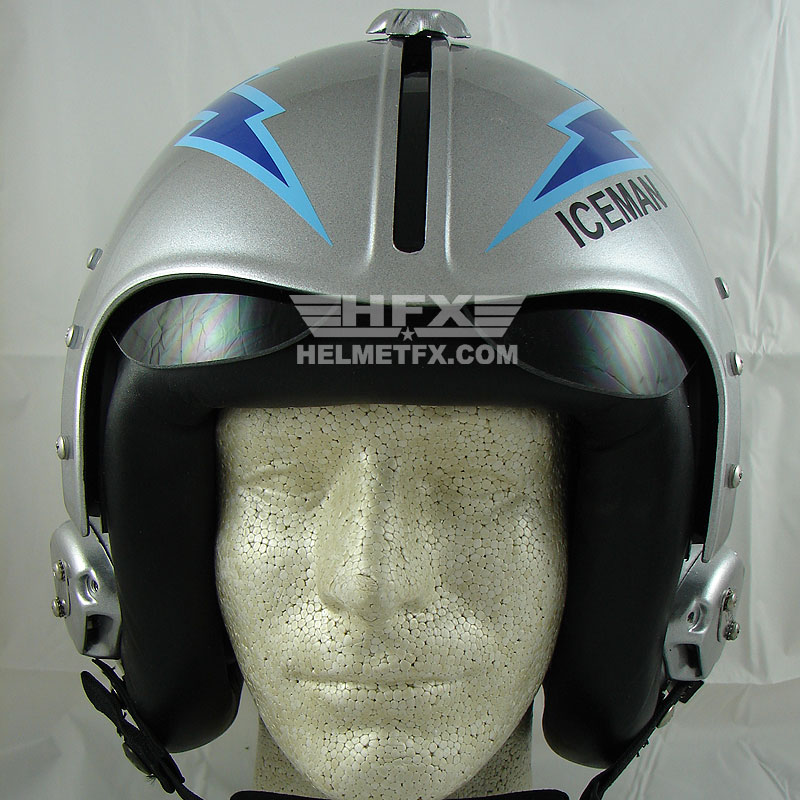 Iceman Goose custom painted flight helmet 2