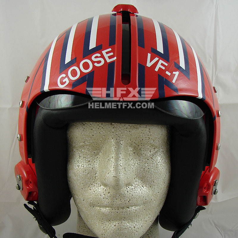 Iceman Goose custom painted flight helmet 4