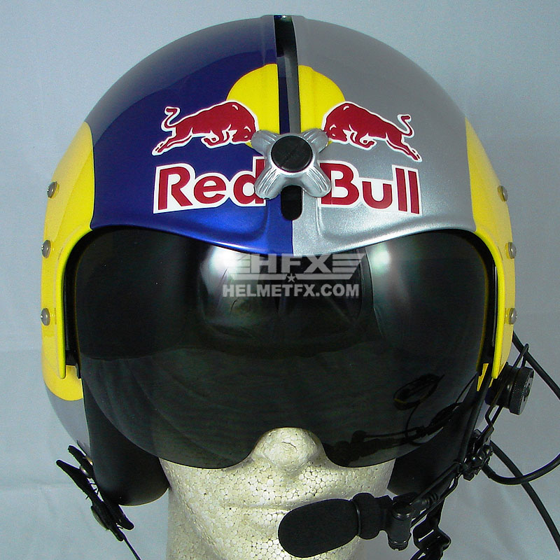 Iceman Red Bull custom painted flight helmet 2