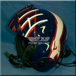 SPH Maverick custom painted flight helmet