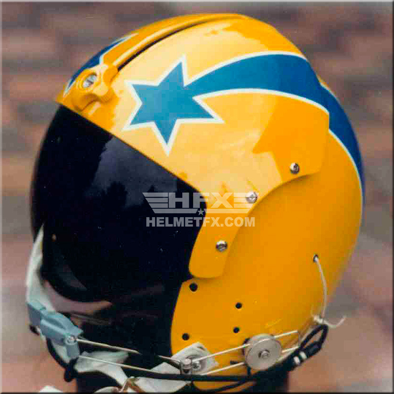 Shooting stars custom painted flight helmet