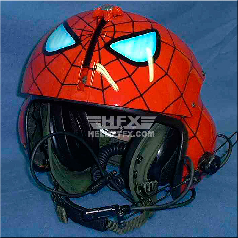Spiderman custom painted flight helmet