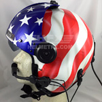 Stars and Stripes custom painted flight helmet 10