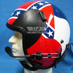 Stars and Stripes custom painted flight helmet 4