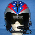 Stars and Stripes custom painted flight helmet 6