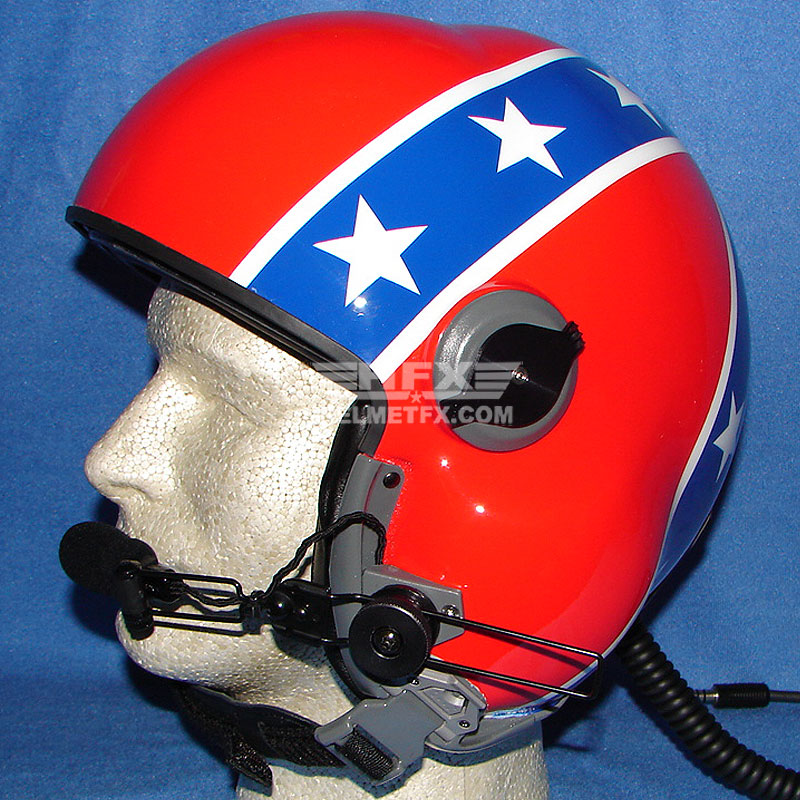 Stars and Stripes custom painted flight helmet 7