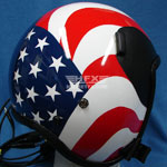 Stars and Stripes custom painted flight helmet 9