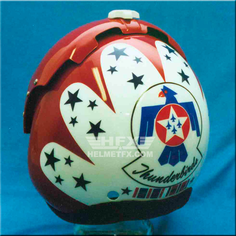 T-bird custom painted flight helmet