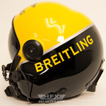 Breitling custom painted flight helmet 1