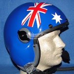 British flag custom painted flight helmet