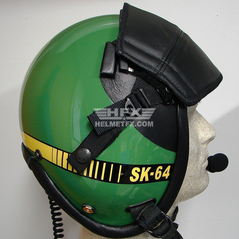 John Deere custom painted flight helmet 2
