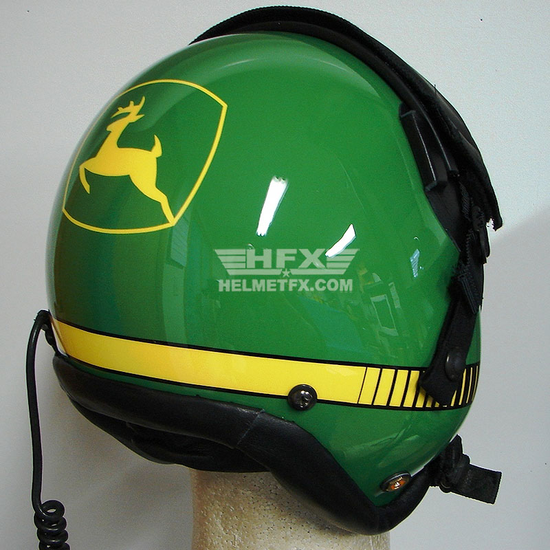 John Deere custom painted flight helmet 1
