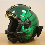 Oregon Ducks custom painted flight helmet