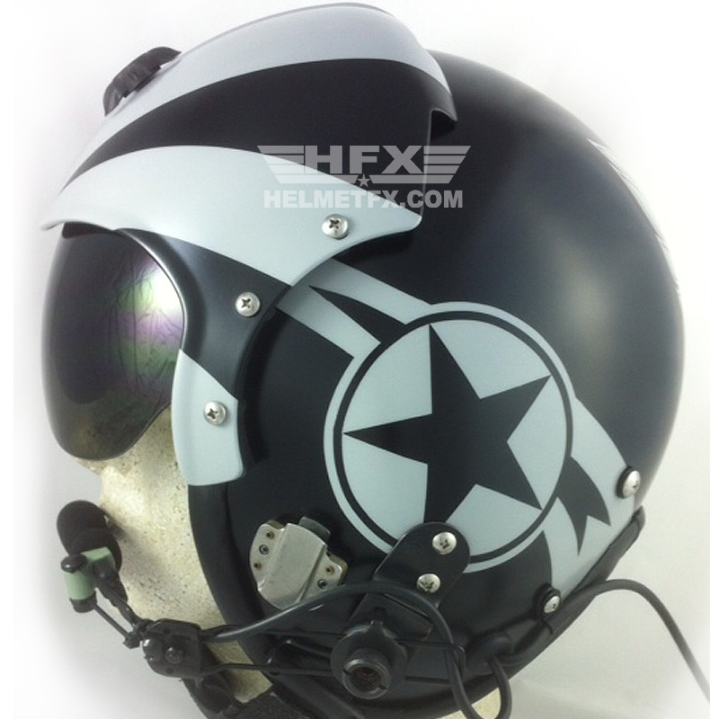 Retro Thunderbird custom painted flight helmet