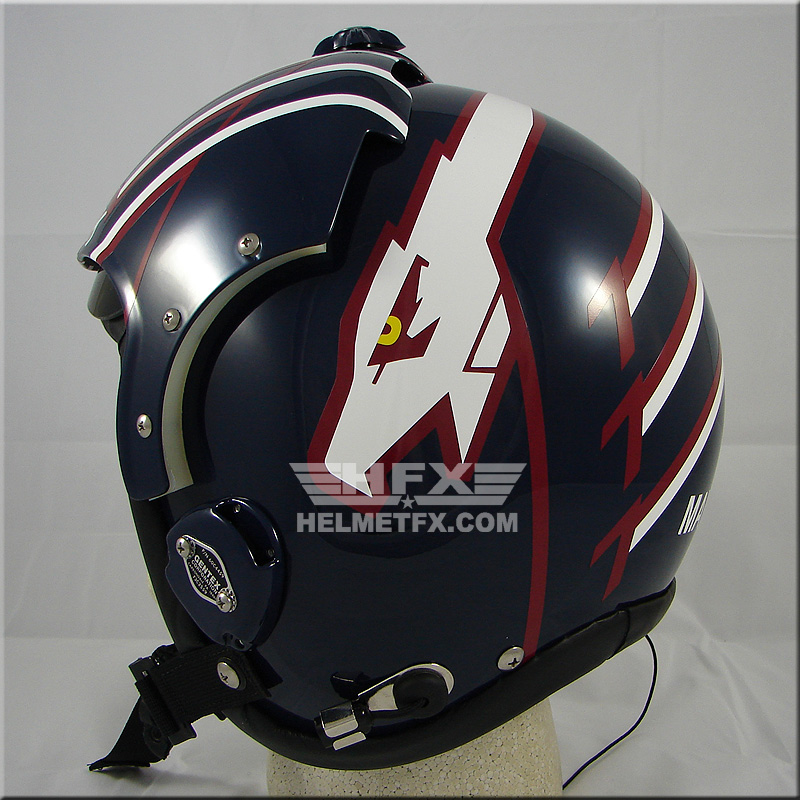 Top Gun custom painted flight helmet